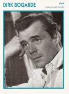 Dirk BOGARDE  (1965)  - Fiche Portrait Star Cinéma - Filmographie - Photo Collection Edito Service - Photographs