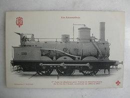 FERROVIAIRE - Locomotive - Coll. F. Fleury - Machine Pour Trains De Marchandises De La Cie De L'Ouest De 1860 à 1867 - Trains
