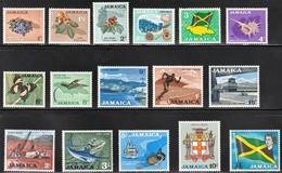 1964 Jamaica Definitives: Flowers, Seashells, Butterfly, Bird, Fishing, Industries, Places Set (** / MNH / UMM) - Jamaica (1962-...)