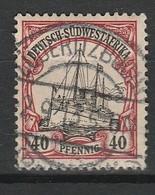 AFRIQUE DU SUD OUEST - COLONIE ALLEMANDE 1900 YT N° 19 Obl. - Afrique Du Sud-Ouest (1923-1990)