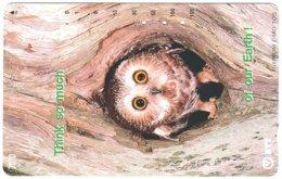 JAPAN M-676 Magnetic NTT [231-079] - Animal, Bird, Owl - Used - Giappone