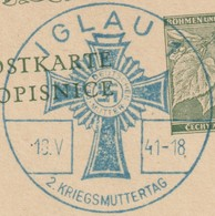 Bohême Et Moravie 1941. Fête Des Mèèrees, Iglau, Jihlava - Guerre Mondiale (Seconde)