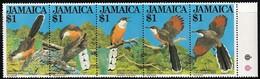 1982 Jamaica Lizard Cuckoo Set (** / MNH / UMM) - Cuckoos & Turacos