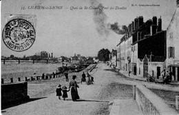 CHALONSUR SAONE ,QUAI DE ST COSME ,PONT DES DOMBES ,PERSNNAGES      REF 64958 - Chalon Sur Saone
