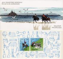 Souvenir Philatélique   Jeux Equestres Mondiaux En 2014   Sous Blister - Blocs Souvenir