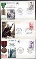 FDC FRANCE 1960 - N° 1248 à 1250 - (PJ) - Héros De La Résistance - Beaumarché, Masse, Ripoche - 1960-1969