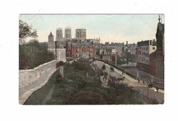 YORK, Yorkshire, England, York View From City Wall, 1908 B&R Postcard - York
