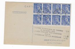 Journée Du Timbre 1944 De La Rochelle Avec Griffe Spéciale - Postmark Collection (Covers)