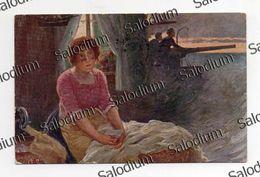 CESARE SACCAGGI - La Fidanzata - Cucito Ricamo - Arte Pittura Lettera A Militare Guerra Mondiale War Ww1 Marina - Guerra 1914-18