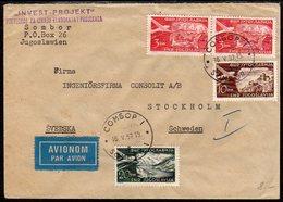 YUGOSLAVIA 1952 Airmail Cover To Sweden - 1945-1992 Socialist Federal Republic Of Yugoslavia