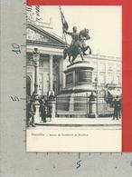 CARTOLINA NV BELGIO - BRUXELLES - Statue De Godefroid De Bouillon - 9 X 14 - Monumenti, Edifici
