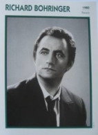 Richard BOHRINGER (1980) - Fiche Portrait Star Cinéma - Filmographie - Photo Collection Edito Service - Photos