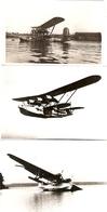 Photographie (repro) D'hydravion Bréguet Bizerte, Escadrille E2 Ca 1937 + Carte Postale Escadrille E23 + 2e Photo, Aéro - Aviation