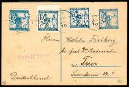 YUGOSLAVIA (SHS) 1920 15v. Chainbreaker Stationery Card With 3 Printings Of 15 V Stamp. Michel 102 I, 102 IIA, 102  IIC - 1919-1929 Kingdom Of Serbs, Croats And Slovenes