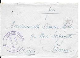 Lettre : Tampon : Hôpital Vétérinaire De Vesoul. (Voir Commentaires) - Postmark Collection (Covers)