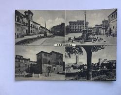 TARQUINIA  - PIAZZA TRENTO E  TRIESTE /PALAZZO VITELLESCHI/ TORRIONE S.MARIA -VIAGGIATA FG - Viterbo
