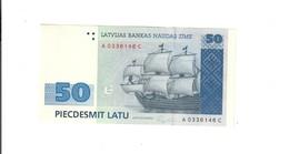 Lettonia Latvia Latvijas 1992 50 Latu Sup/q.fds Lotto 840 - Lettonie