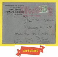 EMA ENVELOPPE ♥️♥️☺♦♦ KIK ֎ 15 Centimes ֎ LE GRUYERE Du Déssert Chic - ANNECY RP 15 JANVIER 1930 - Marcophilie (Lettres)