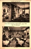 Baden-Baden Hotel Stadt Straßburg, Vorhalle Zum Speisesaal Und Speisesaal  Gl 1922 - Baden-Baden