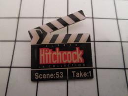 816b Pin's Pins / Beau Et Rare / THEME : CINEMA / CLAP DE CINEMA HITCHCOCK - Cinéma