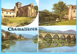 Chamalières-sur-Loire-(Le Puy En Velay-Haute-Loire)-1974-Multivues-Eglise Romane Saint-Gilles-Cloître-Ruines D'Artias... - Le Puy En Velay