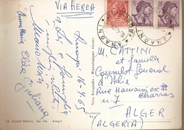 Italy & Marcofilia, Anagni Cattedrale,  Argel Argelia 1965  (8979) - 6. 1946-.. Republic