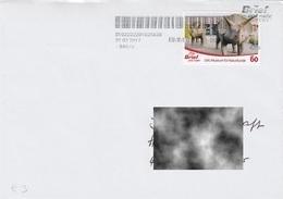 Germany 2017:  Dinosaur, Prehistoric Animal, Used Letter, LWL Museum Fuer Naturkunde - Vor- U. Frühgeschichte