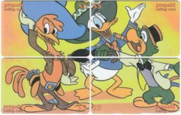 USA C-792 Prepaid  - Cartoon - 4 Pieces - FAKE - United States