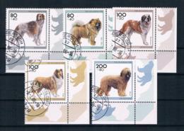 BRD/Bund 1996 Hunde Mi.Nr. 1836/40 Kpl. Satz Gestempelt - [7] République Fédérale