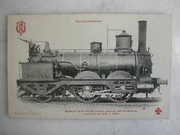 FERROVIAIRE - Locomotive - Coll. F. Fleury - Machine De La Cie De L'Ouest Service Des Voyageurs Constr. De 1847 à 1850 - Trains