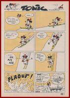 Tonic Fait Une Chute à Ski. Bande Dessinée En Une Planche De Barberousse, Pseudonyme De Philippe Josse. 1965. - Collections