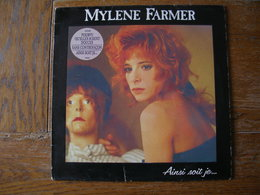 "33 Tours 30 Cm - MYLENE FARMER   - POLYDOR 835564  "" AINSI SOIT JE... "" + 9 ( Avec Stikers ) - Vinyles"
