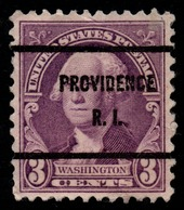 "USA Precancel Vorausentwertung Preo, ""PROVIDENCE"" (RI). - Preobliterati"