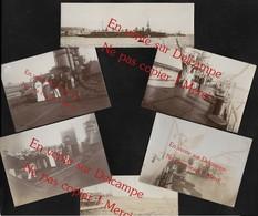 Cuirassé à Identifier Amiral Aube ? Marine Nationale France  / 6 Photos Anciennes (No CP) Albuminées - Schiffe
