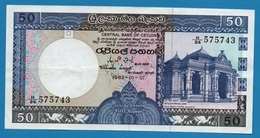 SRI LANKA  50 Rupees  01.01.1982# H/24 575743  P# 94 - Sri Lanka