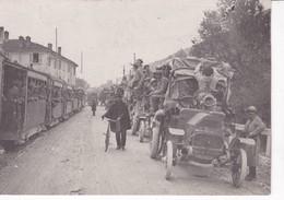 GUERRE 1914_18(PHOTO) TRAIN_AUTOMOBILE - Guerre, Militaire