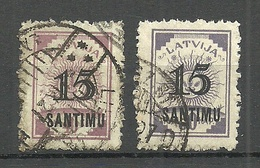 LETTLAND Latvia 1927 Michel 114 - 115 O - Lettland