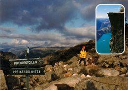 1 AK Norwegen * Der Preikestolen - Und Der Weg Zu Dieser Natürlichen Felsplattform Am Lysefjord * - Norwegen