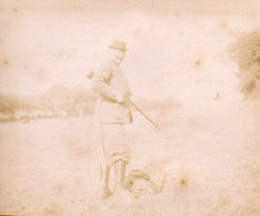 15/ PHOTO CHASSE Vers 1880/1900 / Chasseur Au Fusil - Foto