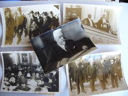 Lot De 5 Photos De Presse Chancelier SCHOBER Autriche Vienne Osterreich 1er Président D' Interpol - Berühmtheiten