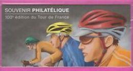 Souvenir Philatélique   100è édition Du Tour De France    Sous Blister - Blocs Souvenir