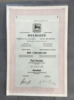 ÉTABLISSEMENT DELHAIZE FRÈRES ET Cie»LE LION»BEF 1.000.000.000 Part SOCIALE 1992 - Autres