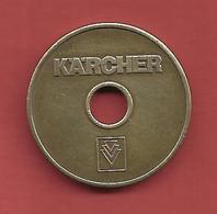 """Jeton De Lavage """" WERTMARKE """" KARCHER - Professionnels/De Société"""