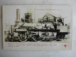 FERROVIAIRE - Locomotive - Coll. F. Fleury - Machine N° 393 De L'ancienne Cie De L'Ouest - Construite En 1869 - Trains