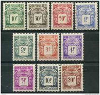 Oceanie (1948) Taxe N 18 à 27 * (charniere) - Oceania (1892-1958)