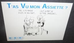 Carte Postale - T'as Vu Mon Assiette ? - Alerte Pour Une TVA Allégée - Illustration : Bavort - Advertising