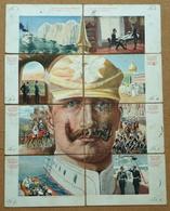 CPA Puzzle De 8 Cartes Circulé En 1901 Allemagne Germany Kaiser - Móviles (animadas)