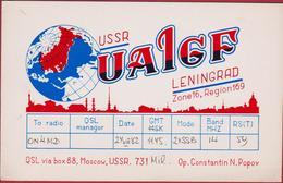 USSR Russia QSL Card Amateur Radio Funkkarte 1982 Leningrad Constantin Popov Moscow - Radio Amateur