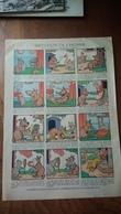 Imitation De L'homme Gibert Lyon Planche Dessin A4  Benjamin Rabier Offerte Par Pétrole Hahn - Publicités
