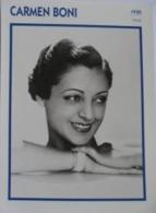 Carmen BONI (1930) - Fiche Portrait Star Cinéma - Filmographie - Photo Collection Edito Service - Photographs